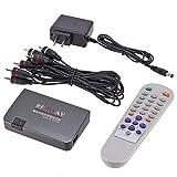 ConanGenka Mini Portable RF-zu-AV-Analog-TV-Empfänger RF-zu-AV-Konverter Modulator-Netzteil USB-Port mit Videokabel