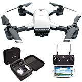 le-idea Drohne IDEA10 - Faltbare GPS Drohne mit 1080P 120° FPV WiFi Kamera HD live übertragung - Return Home - Follow Me,Quick Shot RC Helikopter,Anfänger und Experte,Tragetasche