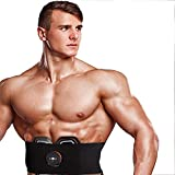 Unbekannt EMS Muskelstimulator, Bauchmuskeltrainingsgerät Bauch Taille Bauch/Taille/Bein/Arm/Hüfte 6 Modi, USB aufladbar, Fitnessgeräte (männlich/weiblich)