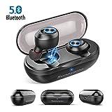 Bluetooth 5.0 Kopfhörer, Kabelloser Ohrhörer mit Mic,Einfach zu Paaren, Sport Wasserdicht Stereo Bass Surround Kopfhörer Mini, In-Ear Kopfhörer mit Ladebox