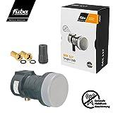 Fuba Single LNB LNC 1 Teilnehmer Direkt DEK 117  LTE- & Mobilfunkabschirmung  Wetterschutz (Gummitülle)  1080p Full HD 4K UHD  2 Vergoldete F-Stecker von HB-DIGITAL