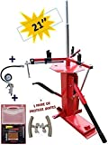 Reifenmontiermaschine universal bis 21' Manuell auto moto + 1 Satz Rep. schlauchlos + 1 Pistole Inflation + 2 Schutz Felge
