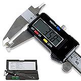 LUPO 150mm/6 Zoll Hochpräzise Edelstahl Schieblehre, Digitale Schieblehre mit LCD Display für, Durchmesser Messung Tiefenmesser, Geeignet für Haushalt und Industrie