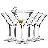 Krosno Martini-Gläser Cocktailgläser   Set von 6   150 ML   Elite Kollektion   Perfekt für Zuhause, Restaurants und Partys   Spülmaschinenfest und Mikrowellengeeignet