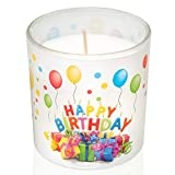 Smart Planet Geburtstagskerze Happy Birthday Kerze im Glas - schönes Geschenk Motiv zum Geburtstag - Deko Kerzen Herzlichen Glückwunsch