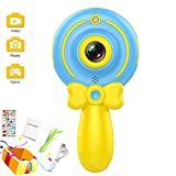 Micoke Kids Kamera 1080P HD Video Kids Digitalkamera Camcorder mit Dual-Kamera, 2,0-HD-Farbbildschirm für Jungen, Mädchen, Geburtstagsgeschenk, Blau