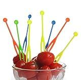 300pcs Einweg Kunststoff Cocktail Picks Fruit Gabeln Cocktail Sticks Teller Picks Kuchen gabeln Dessertgabeln Party Supplies Colors