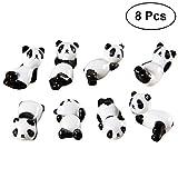 BESTONZON 8 Stück Keramik Essstäbchen Halter Panda Essstäbchen Ablage Esslöffel Ständer Messer Gabel Halter