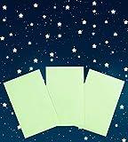 Paraboo Leuchtsticker Leuchtsterne selbstklebend Sternenhimmel Fluoreszierende Sterne Aufkleber selbstleuchtend