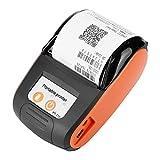 VBESTLIFE Drahtloser tragbarer Drucker,Bluetooth 4.0 thermischer Bill Drucker 58 Millimeter,110-240 V,unterstützt Android, IOS und Windows Funktion(Orange)