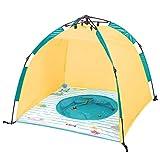 Planschbecken und Strand UV-Schutz Zelt mit Schnellöffnung | Ludi | Wind- und Sonnenschutz | Leicht und kompakt | Einfache Aufbewahrung mit Tragetasche | UV Schutzhaube SPF 50+ | Ab 10 Monaten