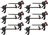 12x PROFI Einhandzwinge 40x100 Schnellspannzwinge Klemmzwinge Schraubzwinge