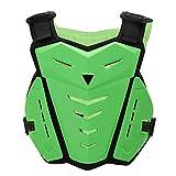 SunTime Motorrad Brustschutz, Brustschutz Racing Guard Weste mit Rückenschutz für Motocross Riding Skating Roller Skifahren (Orange)
