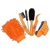 CkeyiN 6pcs / lot Fahrrad Kettenfilter Kits Fahrrad Reiniger Werkzeug Satz Reifen Pinsel Ketten Wash Bremsscheibe Reiniger