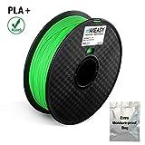 Filament PLA+, MAKEASY PLA Filament 1,75 mm 1KG Rolle in Vakuumverpackung für 3D Drucker oder Stift mit Extra Tasche, Grün