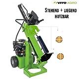 Vito PRO Benzin Holzspalter 12 t stehend und liegend arbeiten EURO 5 max L 52cm D 30cm