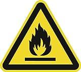 NORDWEST Handel AG Warnzeichen ASR A1. 3/DIN EN ISO 7010 200mm Warnung feuergefährliche Stoffe Folie