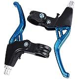 ASEOK Fahrradbremsgriff Mountain Road Bike Bremshebel Lenker Universal Bremsen Für Fahrräder, Aluminiumlegierung Fahrradbremse 2,2 cm Durchmesser EIN Paar (blau)
