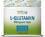 L-GLUTAMIN KAPSELN Ultrapure - 150 Mega Caps je 1000mg ohne Zusatzstoffe - höchste Dosierung - Markenqualität hergestellt in Deutschland - Fitness & Bodybuilding - Vegan Glutamine