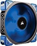 Corsair ML120 Pro LED PC-Gehäuselüfter (120mm, mit Premium Magnetschwebetechnik, blaue LED, Single Pack) schwarz/blau