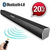 Soundbar Für Tv Geräte 2 Hochtöner Bluetooth lautsprecher und mit 4 Lautsprecher mit Fernbedienung Surround-Sound Schwerer Bass Hohe Tonqualität Heimkino Party Musik