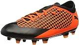Puma Unisex-Kinder Future 2.4 FG/AG JR Fußballschuhe, Schwarz Black-Shocking Orange 02, 32 EU