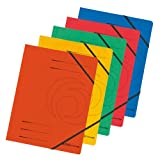 Herlitz 10902872 Eckspanner A4 Colorspan, farbig sortiert, 5er Packung