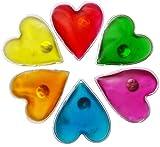 Filfia Handwärmer Herzform, 6 Taschenwärmer für Warme Hände im Winter, Taschenkissen, Wiederverwendbare Wärmekissen (Orange, Rot, Grün, Türkis, Orange, Gelb)