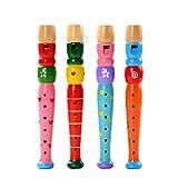 Milopon Holz Flöte Toys Musical Whistle Instrumente für Kinder Kleinkind Geschenk 1Stück zufällige Farbe