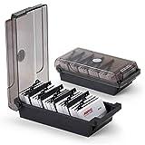 SFQMT 500 Karten Schreibtisch Visitenkartenbox Organizer mit Trennwand und Indexreiter schwarz