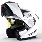 ZXW Elektrische Motorrad Helm Männer Und Frauen Exposed Face Helm Vier Jahreszeiten Universal Sonnencreme Doppel Objektiv Helm (Farbe : Weiß, größe : 35x23cm)