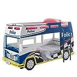 habeig Etagenbett Polizei 90 x 200 blau weiß mit Leiter Holz Autobett Spielbett Kinderzimmer Bett Stockbett Kinderbett