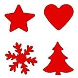 Motivlocher 4er Set Weihnachten Tanne Schneeflocke Stern Herz