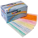 Med-Comfort Rainbow, Einmalmundschutz 5-farbig, 3-lagig, mit latexfreiem Elastikband, 50 Stück