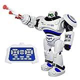 SGILE Groß Ferngesteuerter Roboter Spielzeug für Kinder, Intelligente Programmierung RC Roboter mit LED Licht und Musik, Spielzeugroboter Tanzen Singen Laufen RC Spielzeug für Kindergeschenk Blau