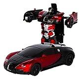RC Transformator Roboter Auto,Fernbedienung Auto, 1:12 Kinderspielzeug Transformers Roboter RC Auto Stunt Elektronische Autos Wiederaufladbare Fahrzeuge Spielzeug Spiele