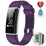 Fitness Armband Uhr mit Pulsmesser,iPosible Wasserdicht IP68 Fitness Tracker Schrittzähler Aktivitätstracker Herzfrequenz Smart ArmbandUhr Pulsuhr Schlafmonitor Kalorienzähler für Herren Damen Kinder