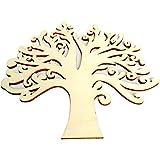GREENLANS-1 10 Stück Holzknöpfe in Baum-Form, DIY Scrapbooking Nähen Basteln Geschenk, Holz, holzfarben, Einheitsgröße