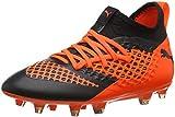 Puma Unisex-Kinder Future 2.3 Netfit FG/AG JR Fußballschuhe, Schwarz Black-Shocking Orange 02, 35 EU