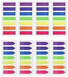 Febbya Haftmarker Film, Page Marker Note Flags 8 Sets 1120 Stück Plastik Lesezeichen Text für Seite Marke Hand Konto Rezepte Tagebuch Zeitschriften und Lehrbuch