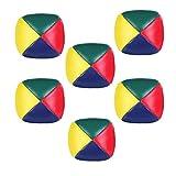 Jonglierbälle,6 Pack Mini Beanbags-Jonglierbälle PU Leder Jonglierball Weiche für Anfänger Jungen Mädchen Kinder Erwachsene Multicolor