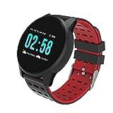 Intelligente Uhrsport Armband Rundsieb Armband Farbsieb Herzfrequenz Blutdrucküberwachung Sport High End Mode Geschenk Rot
