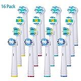 Aufsteckbürsten für Oral B, Nivlan 16 kompatible Zahnbürsten mit 4 Zahnseiden, 4 Cross Action Aufsätzen, 4 Präzisions und 4 Zahnweiß Bürstenköpfen