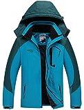 Warm Gefüttert Winterjacke Wasserdicht Atmungsaktiv Softshelljacke Herren Wanderjacke Outdoor Funktionsjacke Sport Regenjacke Blau 3XL