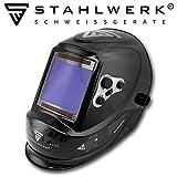 STAHLWERK ST-950XB Vollautomatik Schweißhelm, Optische Klasse: 1/1/1/1, extra großes Sichtfeld, 5 Jahre GARANTIE* auf FILTER, inkl 5 Ersatzscheiben & Tasche