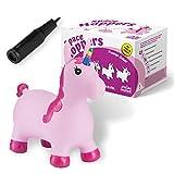 all kids united Hüpftier Sprungpferd Einhorn - Hüpfpferd Sprungtier + Pumpe