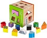 Eichhorn 100002224 - Holz-Steckbox bunt, Steckwürfel inklusive 14 Steine, 14,5x14,5x15 cm