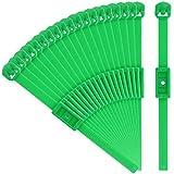 com-four 20x Pflanzenbinder zum Befestigen an Balken, Mauern oder Ranken - grüne Pflanzenbinder aus Kunststoff - Pflanzenclips 14 cm lang (20 Stück - für Schrauben)