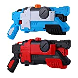 Micovay 2 Stück Wasserpistole Spielzeug für Kinder und Erwachsene, Lange Schussreichweite bis zu 10M Wasser-Blaster für Schwimmbad Strandsand Party Wasserschlacht Sommer Spielzeug