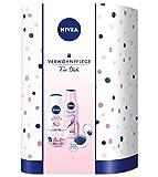 NIVEA Rosy Shine Verwöhnset, Geschenkset für Frauen mit NIVEA Care Sensitive, Labello, Pflegedusche & Pflegeshampoo, pflegendes Beauty Set